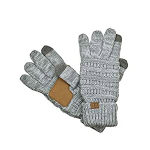 C.C Unisex Cable Knit Winter Warm Gloves