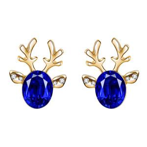Christmas Earrings Elk Antlers Crystal Gemstone Earrings