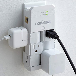 ECHOGEAR On-Wall Pivoting Surge Protector
