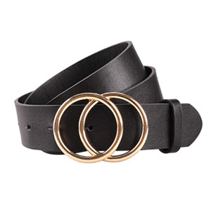 Earnda Double-O Ring Leather Belt