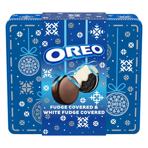 Fudge and White Fudge Covered OREOS