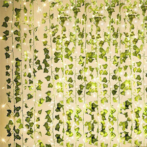 KASZOO Artificial Ivy String Lights