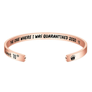 Quarantined 2020 Birthday Bracelet