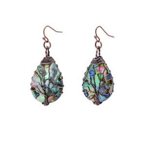Tree of Life Shell Earrings