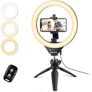 UBeesize Selfie Ring Light with Tripod Stand