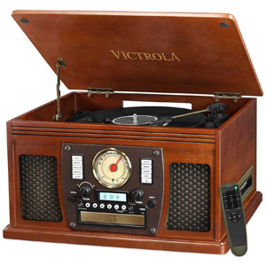 Victrola 8-in-1 Bluetooth Record Player