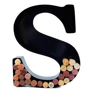 Wine Cork Holder Monogram Letter