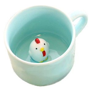 ZaH 3D Mug Animal Inside Cup Cartoon