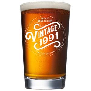 1991 Vintage 16-Oz Beer Pint Glass
