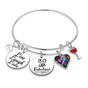 30th Birthday Charm Bracelets