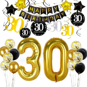 30th Birthday Decorations For Women & Men