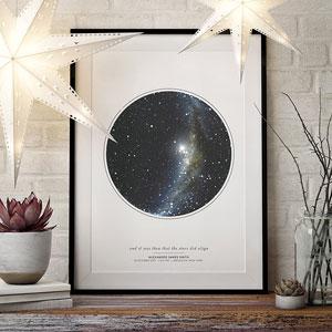 Custom Personalized Night Sky Star Map Poster, Unframed