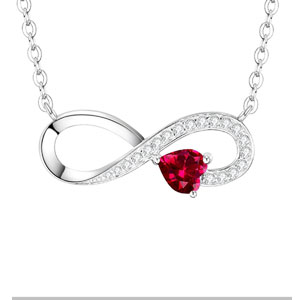 Dorella Sterling Silver Love You Forever Infinity Necklace
