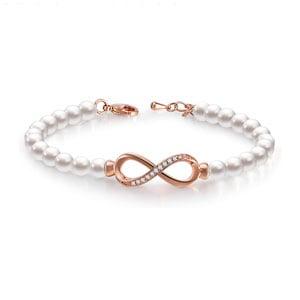 GEORGE SMITH Forever Elegance Adjustable Infinity Freshwater Cultured Pearl Bracelet
