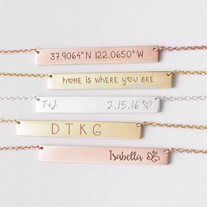 GRACE PERSONALIZED Personalized Bar Necklace