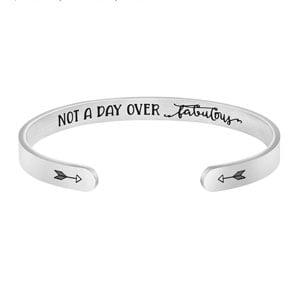 Joycuff Inspirational Bracelets for Women Hidden Message Mantra Cuff Bangle