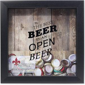Lawrence Frames Black Beer Cap Holder Shadow Box, 10x10