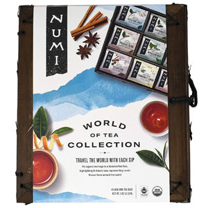 Numi Organic Tea World of Tea Variety Gift Set, 45 Ct
