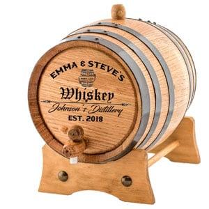 Personalized Engraved American Premium Oak Aging Barrel, 3 L