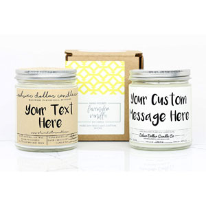 Personalized Scented Soy Candle