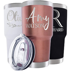 Personalized Stainless Steel Insulated Tumblers, 30-Oz, Rose Gold