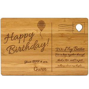 Personalized Wooden Postcards for Birthdays, Anniversaries, Mothers Day, Fathers Day, Holidays