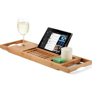 Premium Bamboo Bathtub Tray Caddy