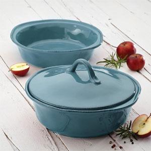 Rachael Ray Cucina Casserole Dish Set with Lid, 3 Pc