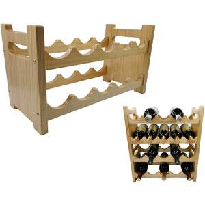 Yonor Stackable Modern Clear 10-Bottles Wine Rack