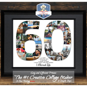 60th Birthday Gifts For Women 60th Birthday Gift For Men 60th Anniversary Gift 60th Birthday Ideas Mom 60th Birthday Gift Photo Collage Gift