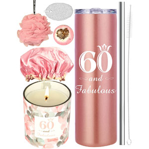 60th Birthday Gifts for Women, 60 Birthday Gifts, Gifts for 60th Birthday Women, 60th Birthday Decorations, Happy 60th Birthday Candle, 60th Birthday Tumblers, 60th Birthday Party Supplies