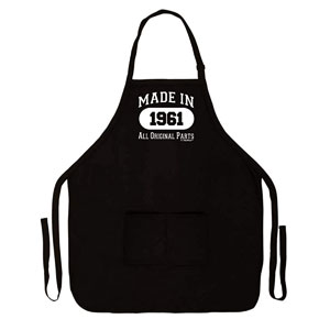 60th Birthday Made in 1961 Apron for Kitchen Two Pocket Apron