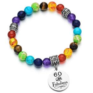 Birthday Bracelet 7 Chakra Beads Stretch Bracelet 10th 12th 13th 16th 18th 21th 30th 40th 50th 60th