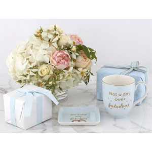 """Coffee Mug, Tea Cup With """"Not a Day Over Fabulous"""" Quote & Jewelry Dish, Birthday Gifts for Women, Elegantly Boxed with Card & Envelope, Birthday Gifts for Friends Female, Dishwasher & Microwave Safe"""