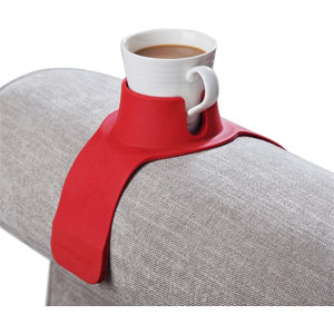 CouchCoaster – The Ultimate Anti-Spill Cup Holder Drink Coaster for Your Sofa (Rosso Red)