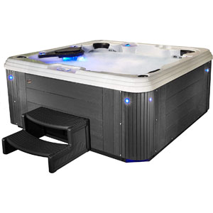 Essential Hot Tubs 67-Jets 2021 Syracuse Hot Tub, Seats 5-6, Gray
