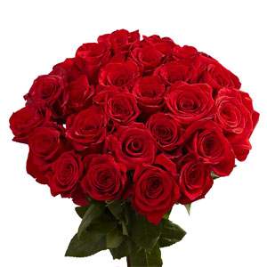 GlobalRose 100 Red Roses - Lovely Fresh Flowers - Next Day Delivery