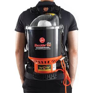 Hoover Commercial Lightweight Backpack Vacuum, C2401,Black