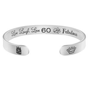 Joycuff Birthday Gift for Women 13th 16th 18th 21th 30th 40th 50th 60th 70th 80th 90th Personalized Jewelry Mantra Cuff Bangle Best Friend Bracelet BFF Friendship