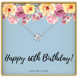 KEDRIAN 40th, 50th, 60th, 70th Birthday Necklace, 925 Sterling Silver, Birthday Gifts Necklaces for Women, Pendant Gift for 40, 50, 60, 70 Year Old Woman Birthday, Ideas for Birthday Gifts for Her