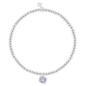Katie Loxton a Little Birthday Celebration Womens Stretch Adjustable Band Fashion Charm Bracelet