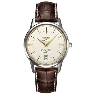 Longines Flagship Heritage Automatic Stainless Steel Mens Luxury Strap Watch Calendar L4.795.4.78.2