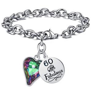 M MOOHAM Birthday Gifts Bracelet for Women Girls, Fabulous Birthday Charm Bracelets 10th 16th 20th 30th 40th 50th 60th 70th 80th 90th Birthday Gift for Friend, Mom, Daughter, Niece, Sister, Grandma