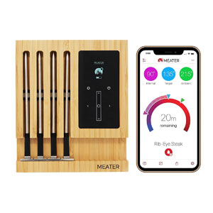 MEATER Block   Premium Wireless Smart Meat Thermometer for The Oven Grill Kitchen BBQ Smoker Rotisserie with Bluetooth and WiFi Digital Connectivity