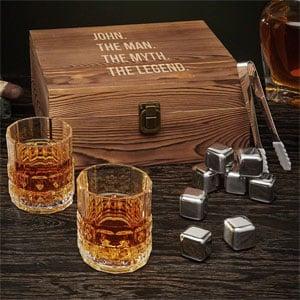 Man Myth Legend Personalized Whiskey Box Set (Custom Product)