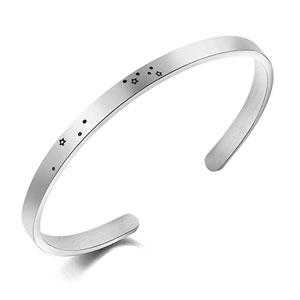 Personalized Zodiac Bracelet Constellation Stainless Steel Cuff Women Horoscope Birthday Gift Jewelry