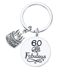 Sannyra Happy Birthday Gifts Keychain Inspirational Gifts Jewelry for Women Men 13th 16th 18th 21th 30th 40th 50th 60th 70th 80th