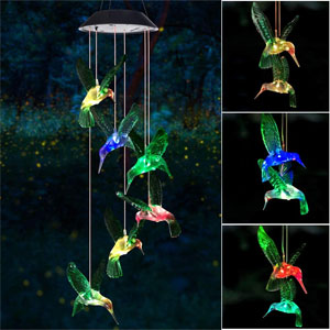 Wind Chime, Solar Hummingbird Wind Chimes Outdoor/Indoor(Gifts for mom/momgrandma Gifts/Birthday Gifts for mom) Outdoor Decor,Yard Decorations ,Memorial Wind Chimes,moms Best Gifts