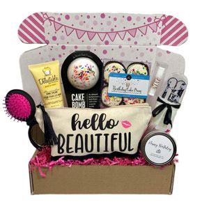 Women's Birthday Gift Box Set 8 Unique Surprise Gifts For Wife, Aunt, Mom, Girlfriend, Sister from Hey, Its Your Day Gift Box Co.