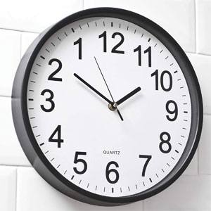 """YAVIS 12"""" Inch Backwards Wall Clock Reverse Clock Runs Counterclockwise Decorative Wall Clock Battery Operated with Large Numbers for Living Room Kitchen Office School Classroom Bar"""